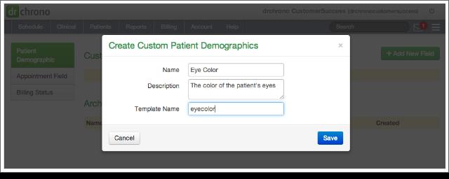 how to create custom patient demographics  u2013 drchrono
