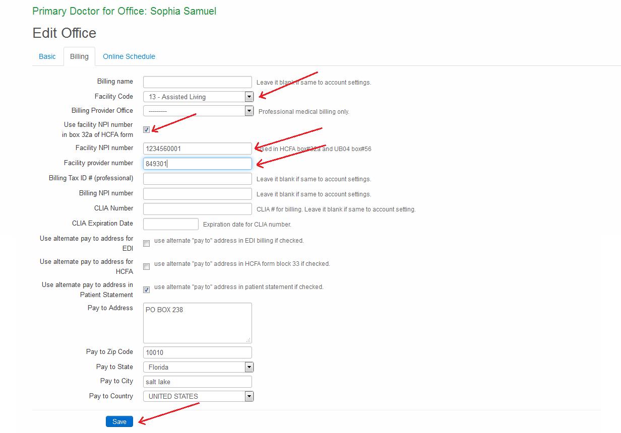 how to edit box 32 in hcfa form drchrono customer success