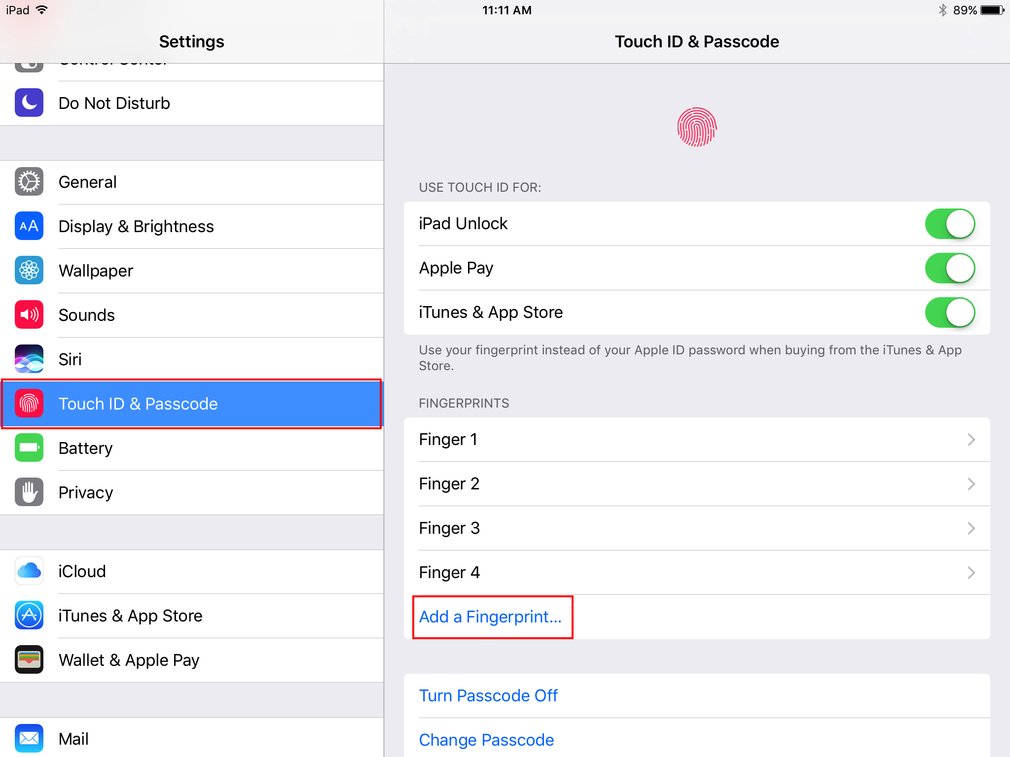 Mobile EHR App: How do I enable Touch ID Fingerprint login