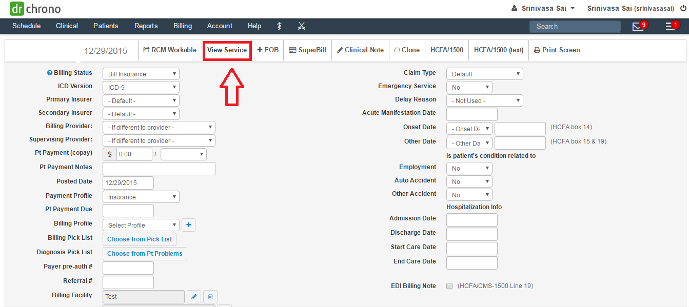 how to print supervising physician details in hcfa drchrono