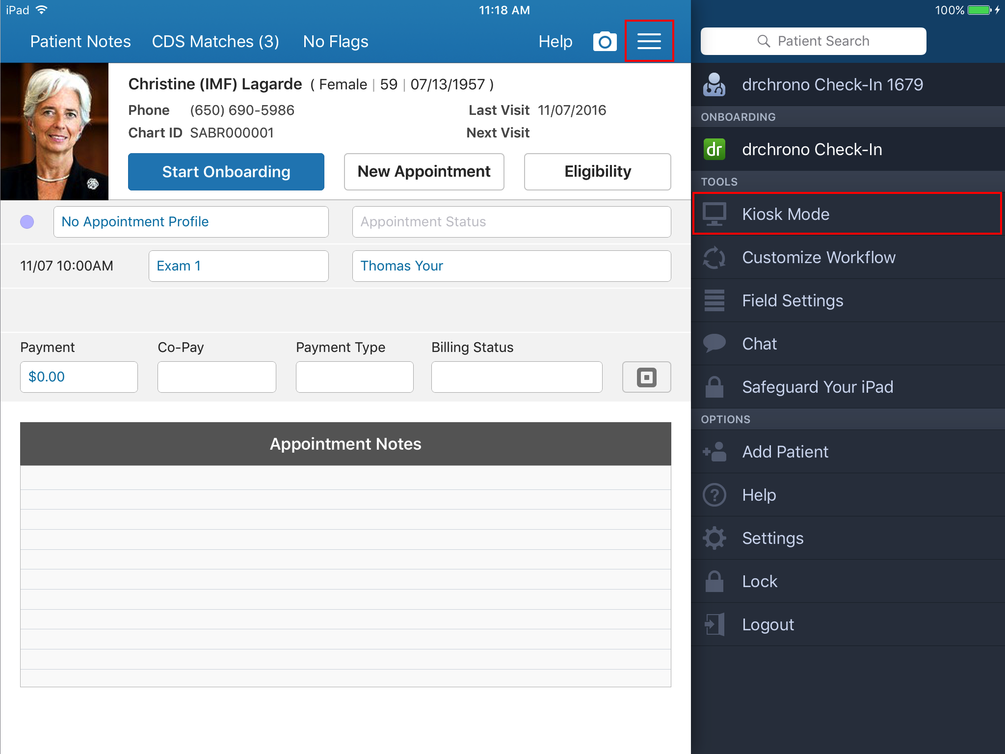 Check-In App: Getting Started with Kiosk Mode – drchrono