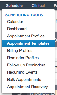 appointment list template