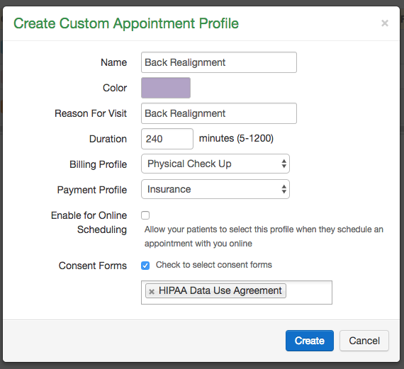 how to add a new appointment profile drchrono customer success