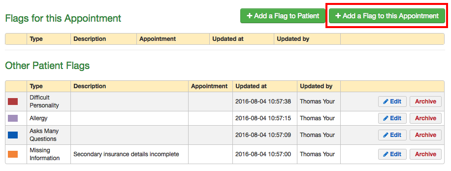 Patient Flags: How do I add a flag to an appointment? – drchrono